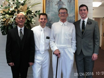 Jim Sharp, Elder Augustine, Frank, and Elder Magby