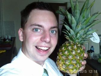 Hey mom, see I'm getting my fruit!