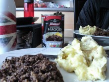 Yumm, you have your fondue and I have Haggis and Tatties!