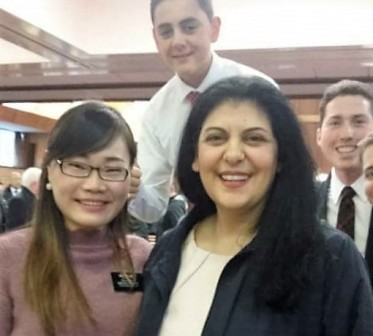 Sister Bleyl and her son, her daughter's MTC compainon and some photo bombers