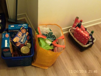The Kilmarnock ward surprised us and gave us all this food! We are so appreciative of their generosity!