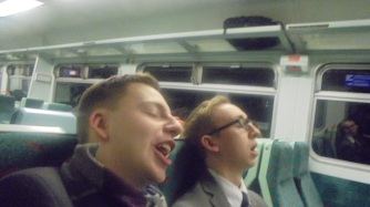 Yep, here is Elder Ritchie asleep on the train