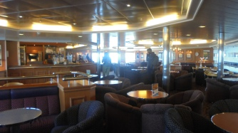 Inside the ferry, not to shabby