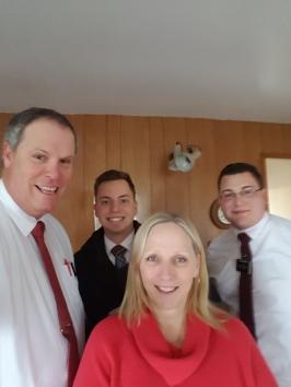 The Orkney gang Elder & Sister Smith with Elder Augustine and Elder Herr