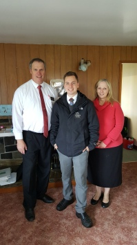 Elder and Sister Smith with Elder Augustine