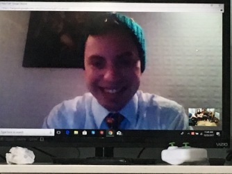 Christmas video chat with Elder Augustine